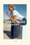 Peachy flare jeans