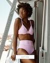 Barbados pink bikini top