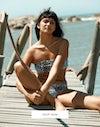 Venice leopard bikini top