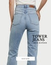 Back in stock - tower jeans