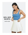 30% off skirts, shop now