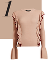 The frill sweater with bell sleeves