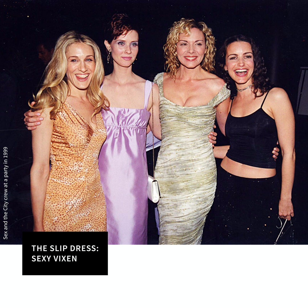 TREND ALERT: Tee shirt under a slip dress! It's back to 90's