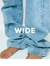 wide, jeans