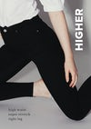 slim, higher ankle, high waist, super stretch, tights leg, ankle length
