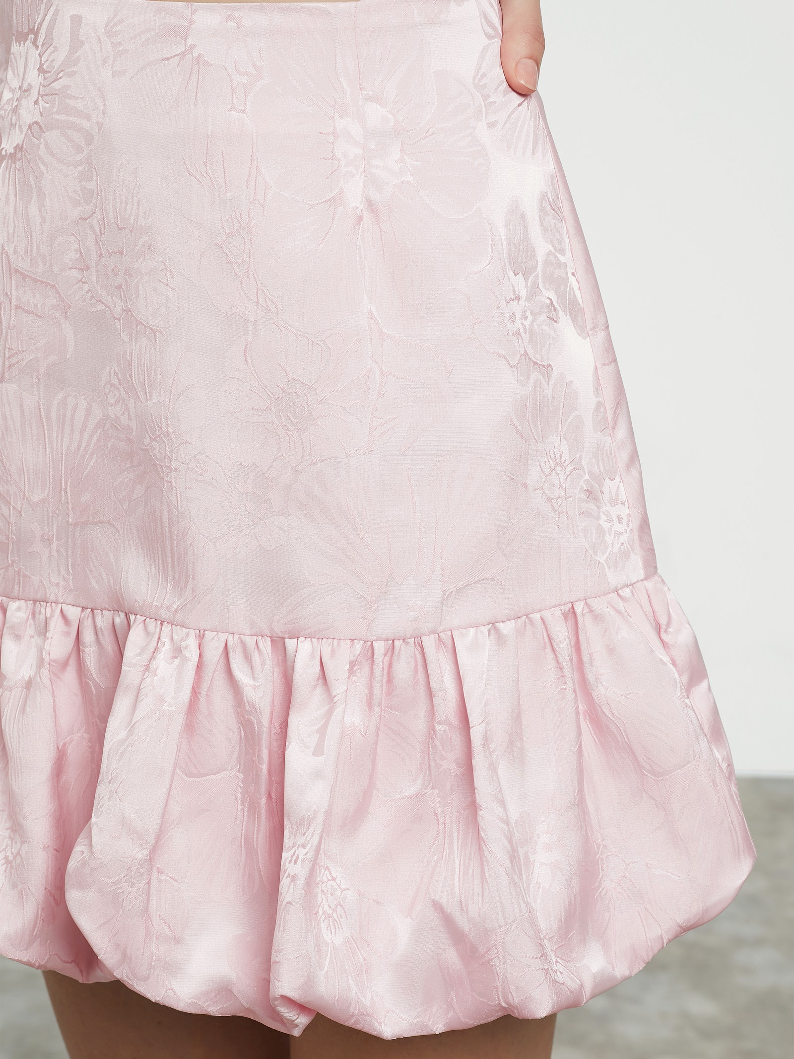 Pink Flashy satin skirt | Women | Skirts at